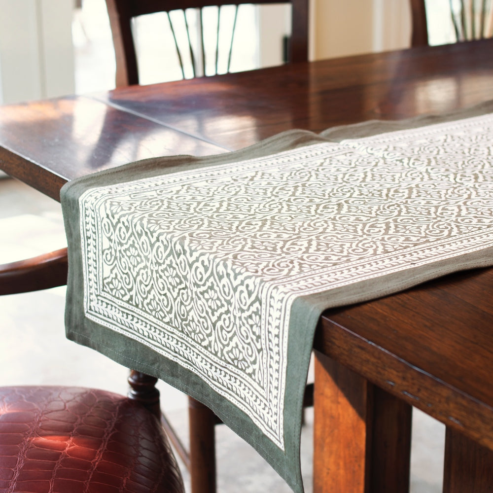 Misty Taupe Table Runner