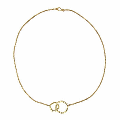 Necklace: Brass Infinity Loop