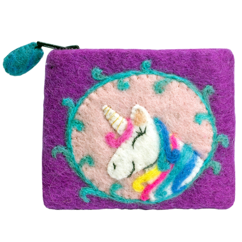 Felt Coin Purse - Unicorn