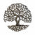 Tree of Life Curly Haitian Steel Drum Wall Art, 14""
