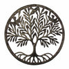 Rooted Tree of Life with Birds Ringed Haitian Steel Drum Wall Art, 23""