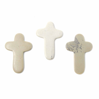 Set of 4 Small Natural Soapstone Crosses