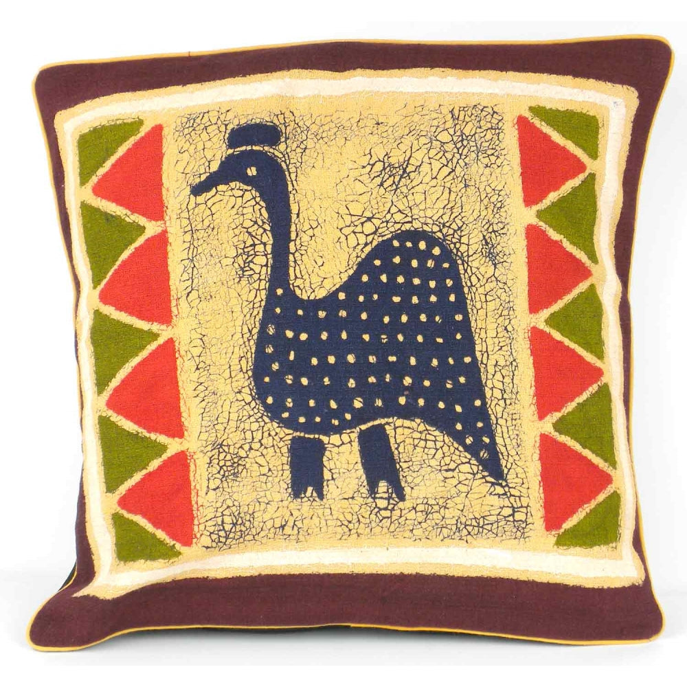 Handmade Guinea Fowl Batik Cushion Cover