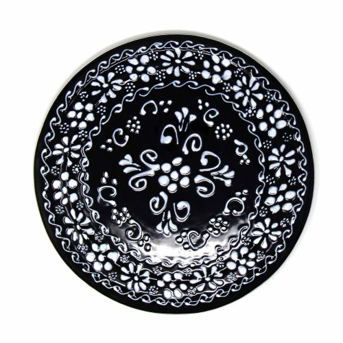 "Encantada Handmade Pottery 8"" Trivet or Wall Hanging, Ink"