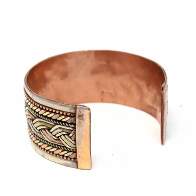 Copper and Brass Cuff Bracelet: Healing Cuff