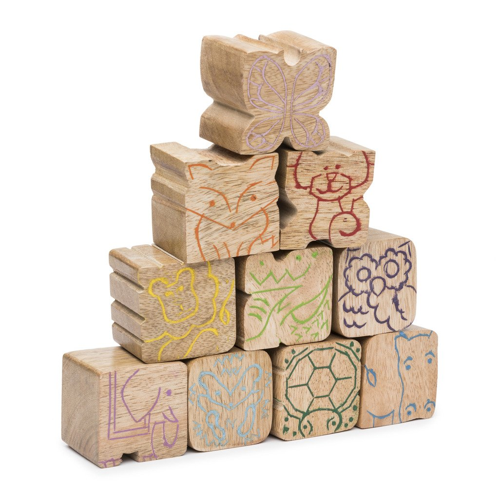Stacking Critters Blocks - Set of 10