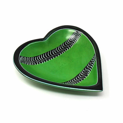 Soapstone Heart Bowl - Medium Green