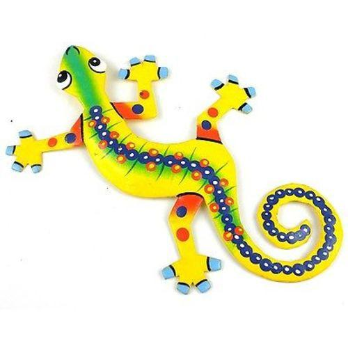 Eight Inch Snake Back Metal Gecko