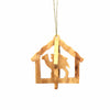 Olive Wood Ornament - 3D Nativity in Barn