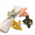 Hand-felted Cactus Napkin Rings, Set of Four Colors