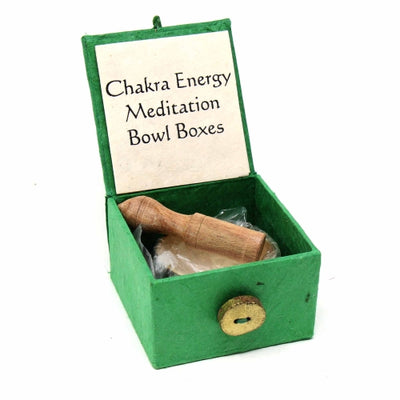 Mini Meditation Bowl Box: 2in Heart Chakra