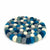 Felt Ball Trivets: Round, Ice Blue