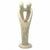 Natural 10-inch Tall Soapstone Family Sculpture - 2 Parents 1 Child