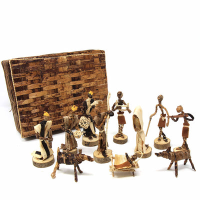 Banana Fiber Nativity Set
