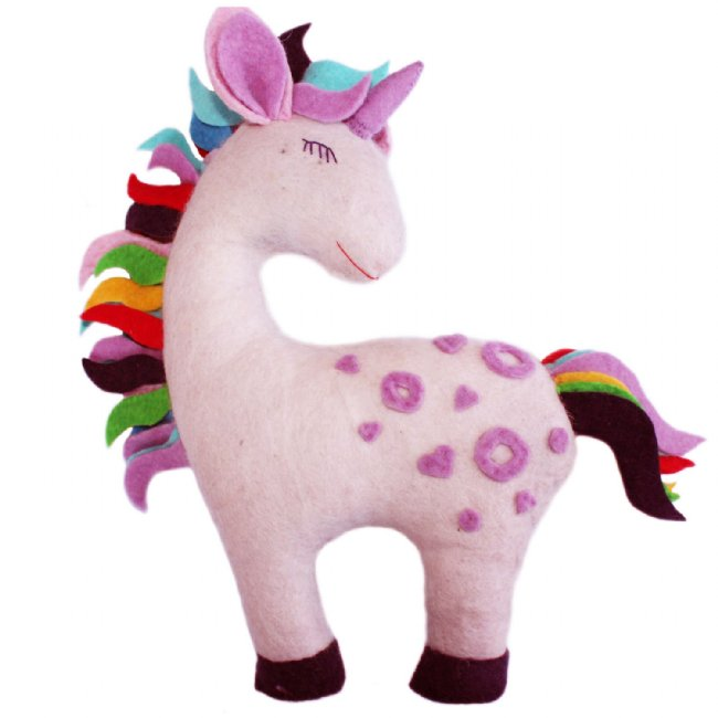 Felted Friend Unicorn Design -