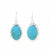 Alpaca Silver Turquoise Oval Drop Earrings