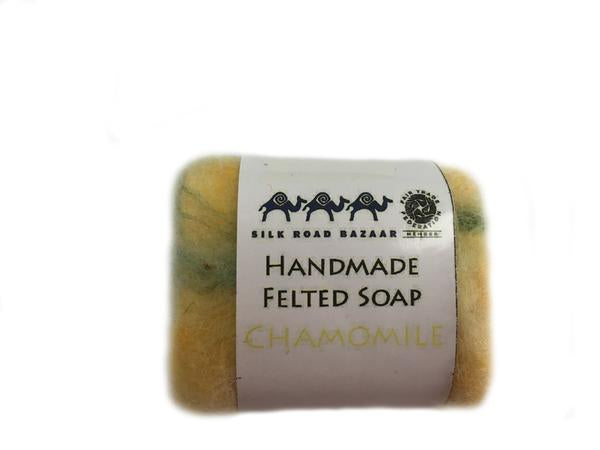 Handmade Felted Soap Chamomile  (S)