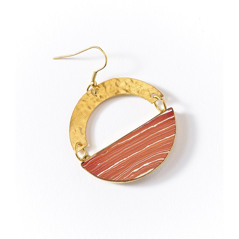 Ria Earrings - Desert Clay Swirl