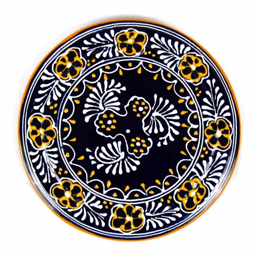 "Encantada Handmade Pottery 8"" Trivet or Wall Hanging, Blue"
