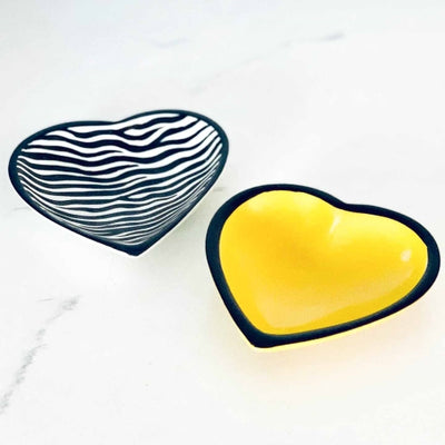 Soapstone Heart Bowl - Medium Yellow