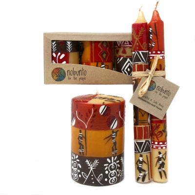 Hand Painted Candle - Single in Box - Damisi Design