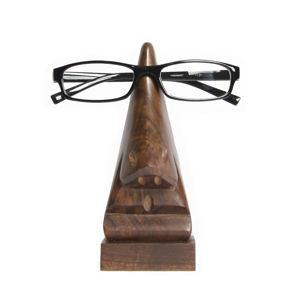 Wood Nose Eyeglass Holder  (E)