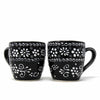 Encantada Handmade Pottery Set of Two Mugs, Ink - 12 oz.