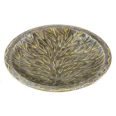 14 inch Shallow Bowl with Tree of Life