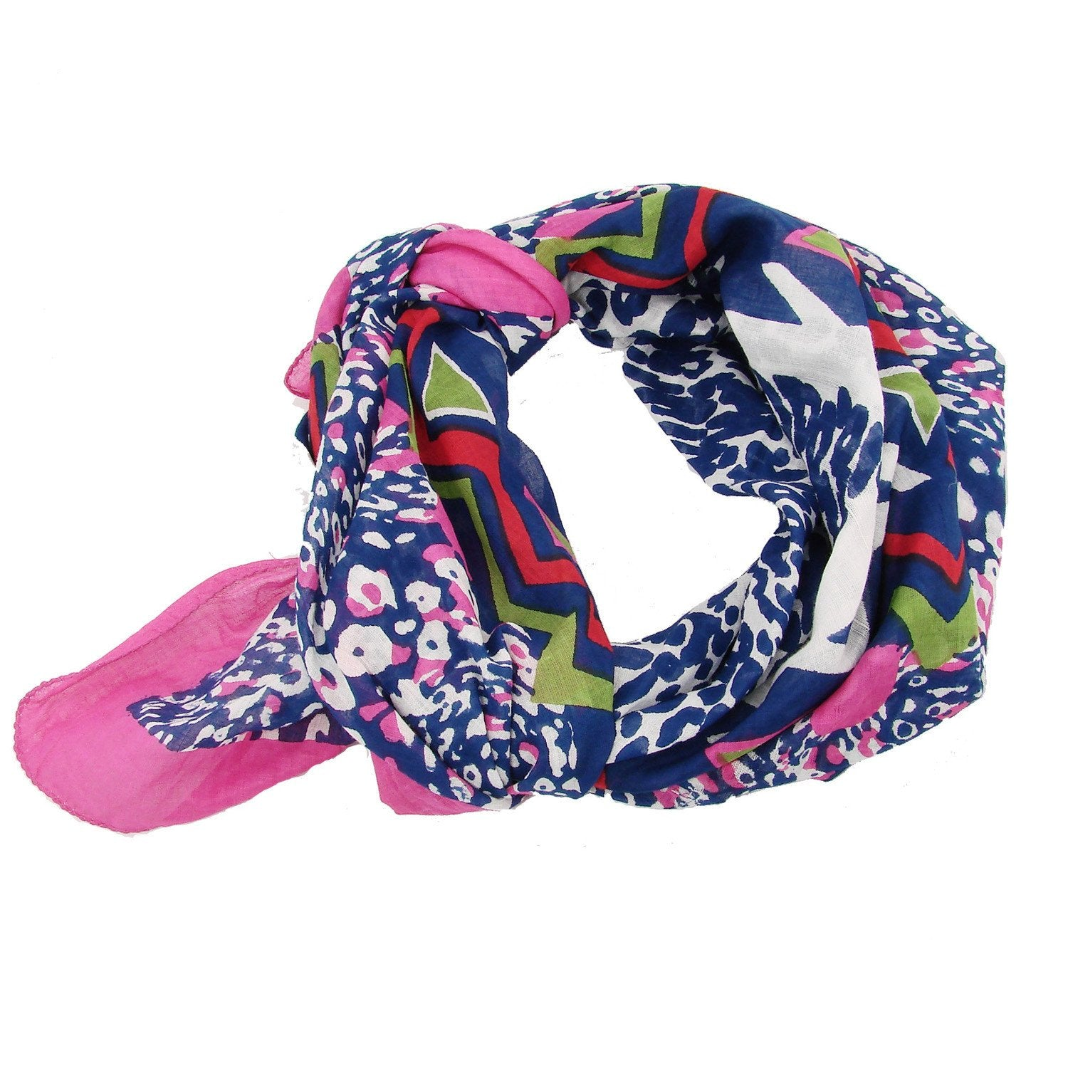 Abstract Animal Scarf - Pink