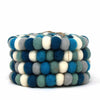 Felt Ball Coasters: 4-pack, Ice Blue