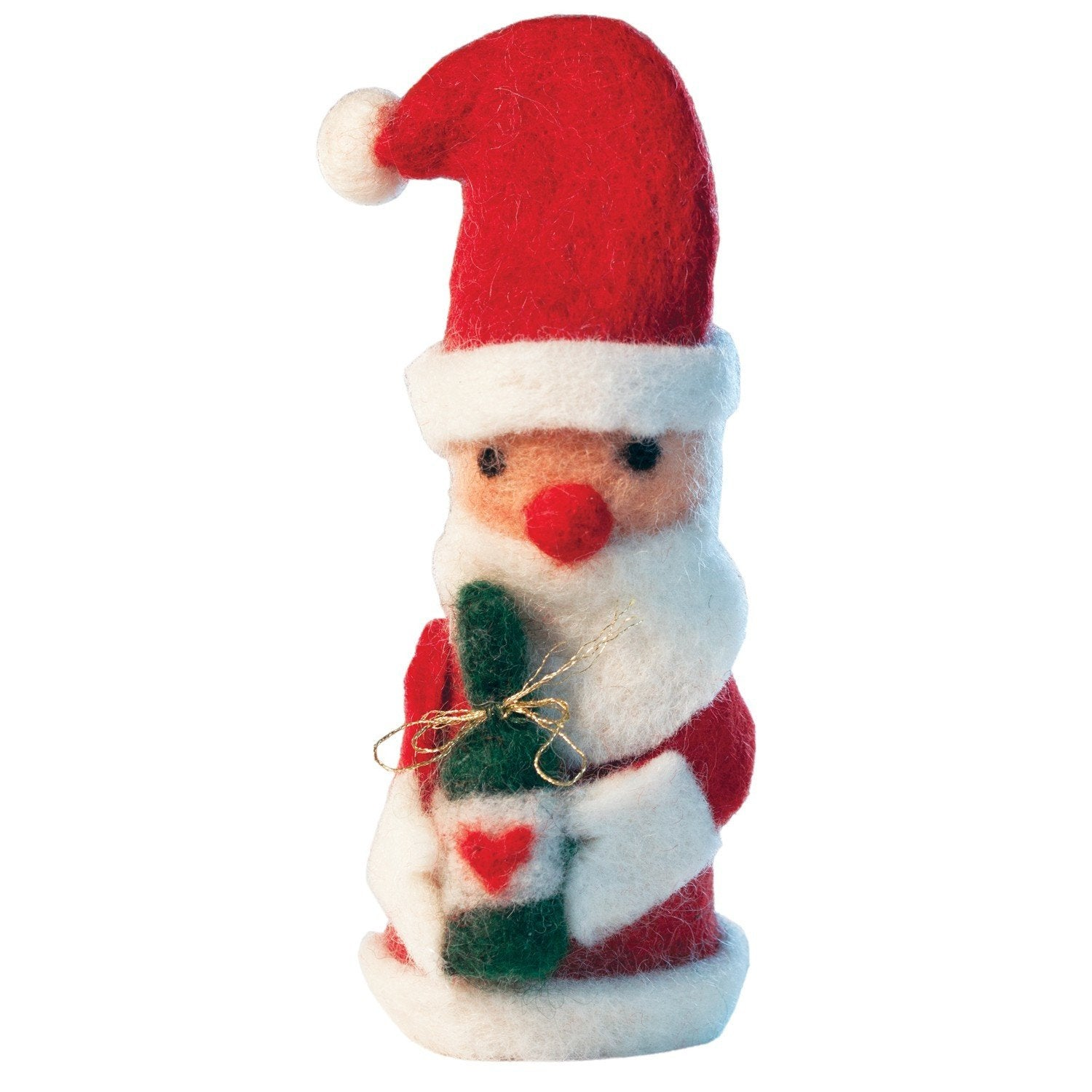 Set of 2 Bottle Toppers - St Nick