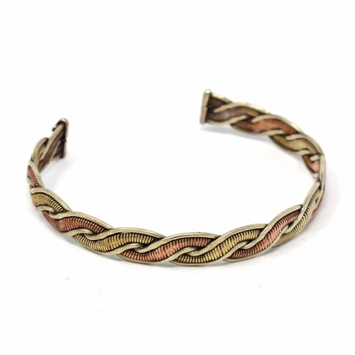 Copper and Brass Cuff Bracelet: Healing Genie
