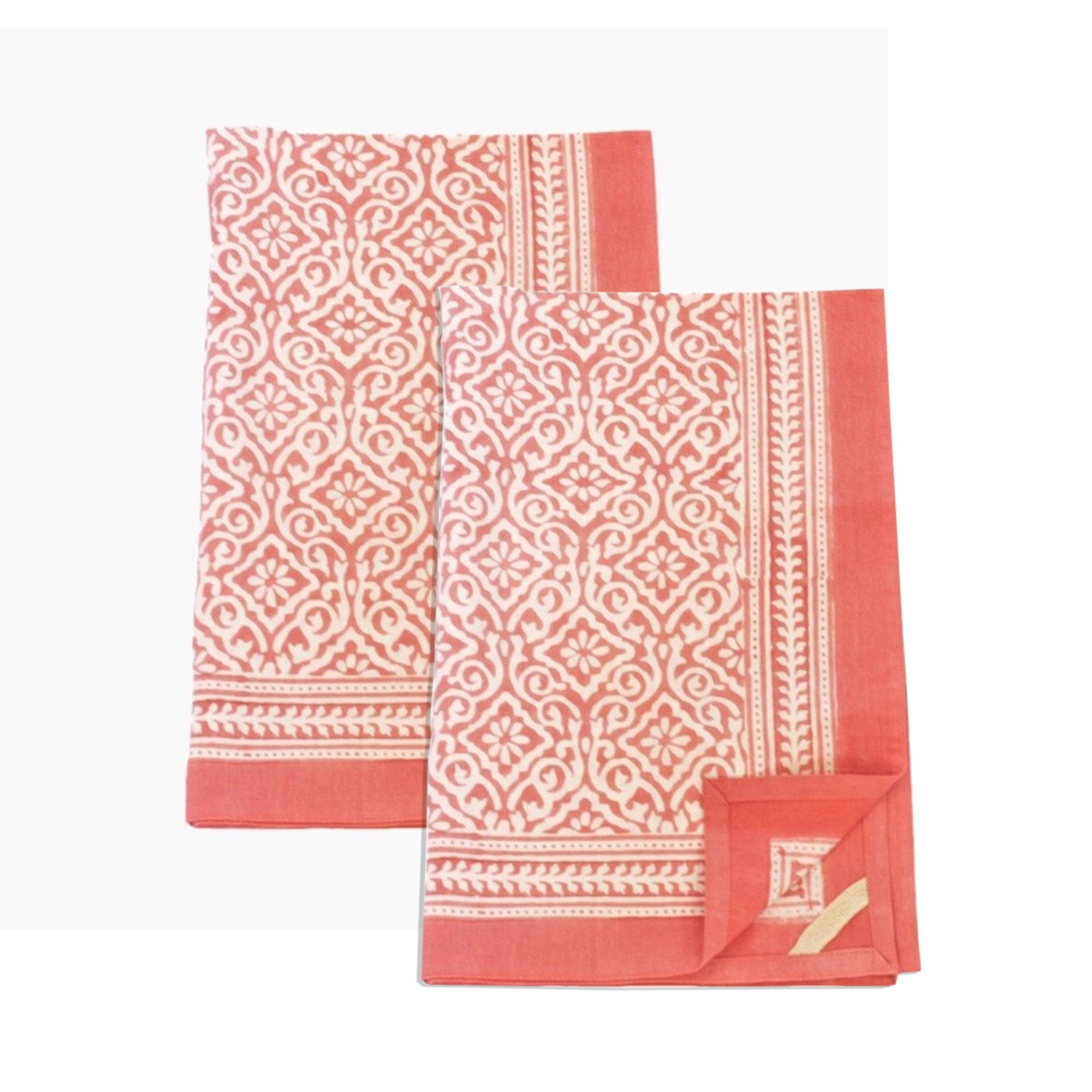 Kitchen Towel Jaipur Coral, Set of 2
