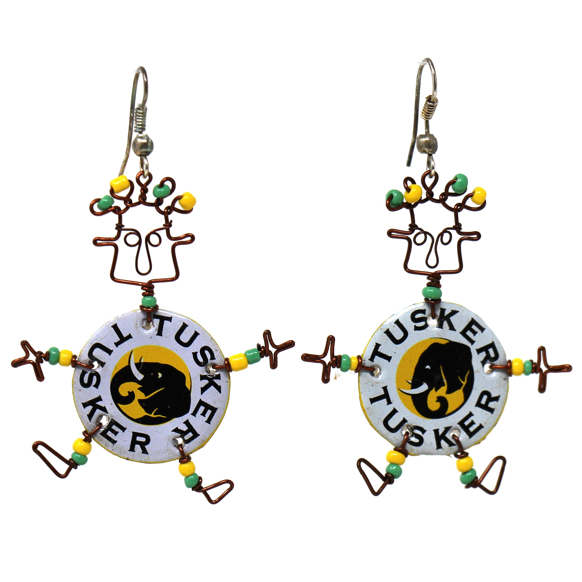 Set of 10 Dancing Girl Tusker Earrings