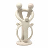 Natural 10-inch Tall Soapstone Family Sculpture - 2 Parents 3 Children