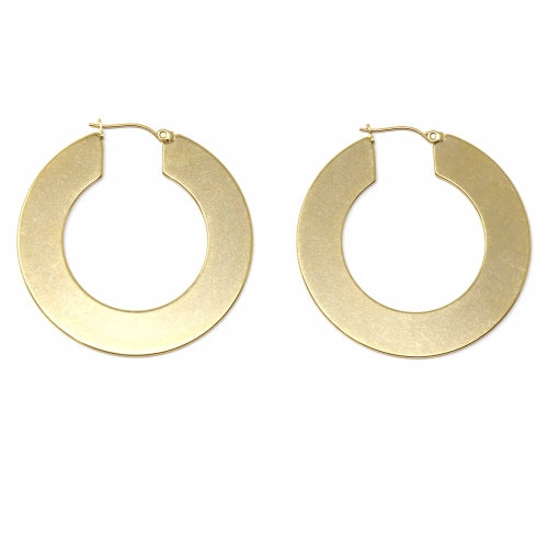 Savannah Large Flat Hoop Earrings
