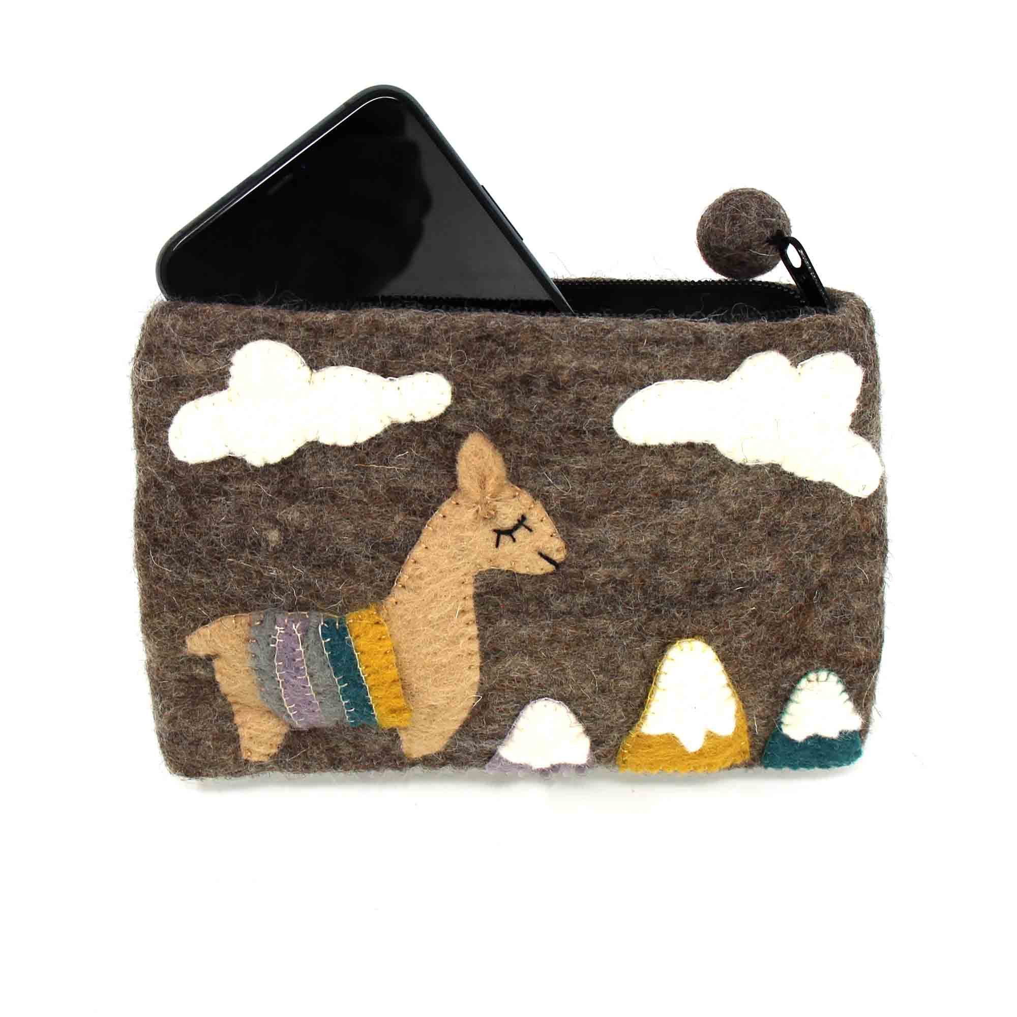 Handcrafted Llama Pouch