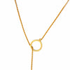 Crescent Moon Goldtone Pendant Necklace