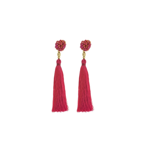 The Rosette Tassel Earring, Carousel