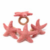 Hand-felted Starfish Napkin Rings, Set of Four Light Rose