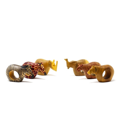Mahogany Animal Napkin Rings