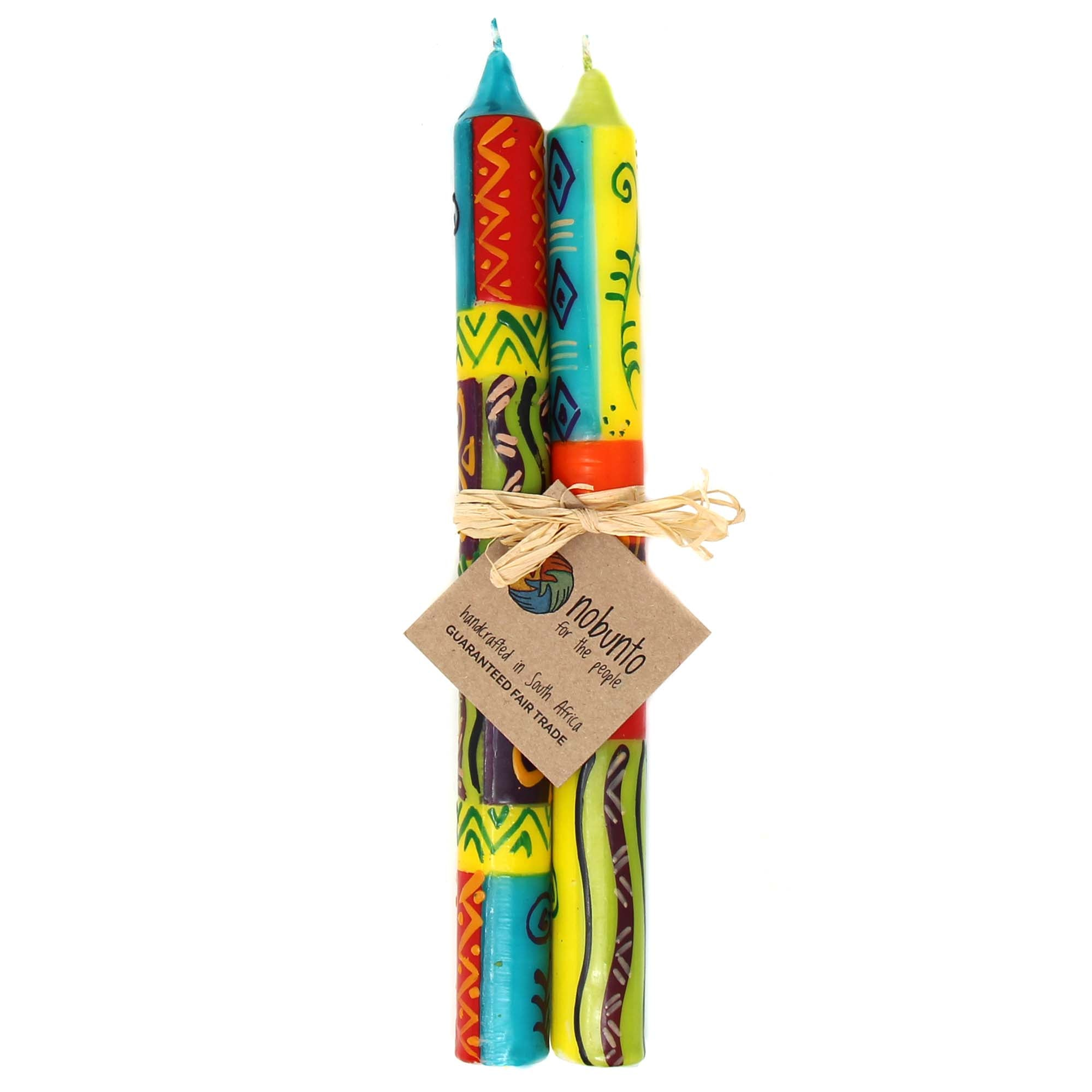 Tall Hand Painted Candles - Pair - Matuko Design