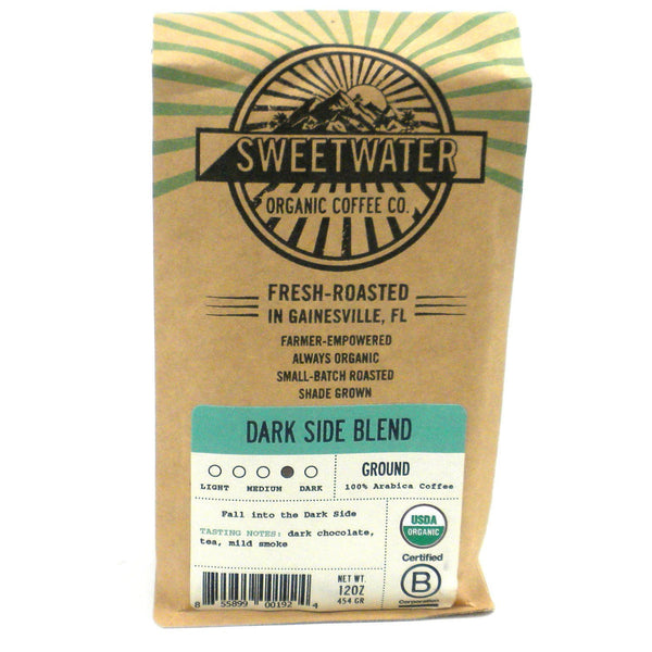 Dark Side Blend Organic Coffee 12oz Ground - Sweetwater Coffee