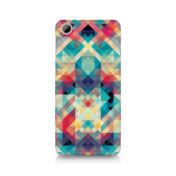 Ek Number Abstract Criss Cross Premium Printed Case For HTC Desire 820
