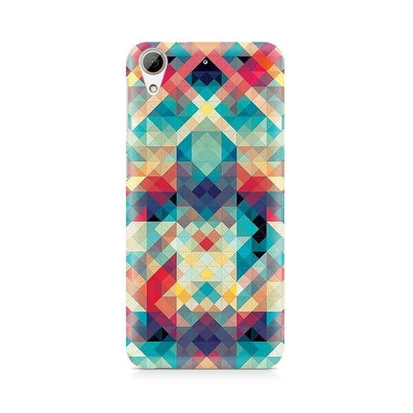 Ek Number Abstract Criss Cross Premium Printed Case For HTC 626