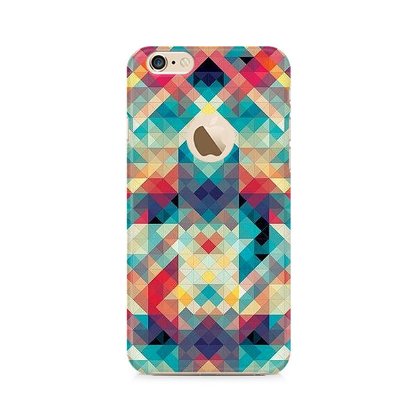 Ek Number Abstract Criss Cross Premium Printed Case For Apple iPhone 6/6s with hole
