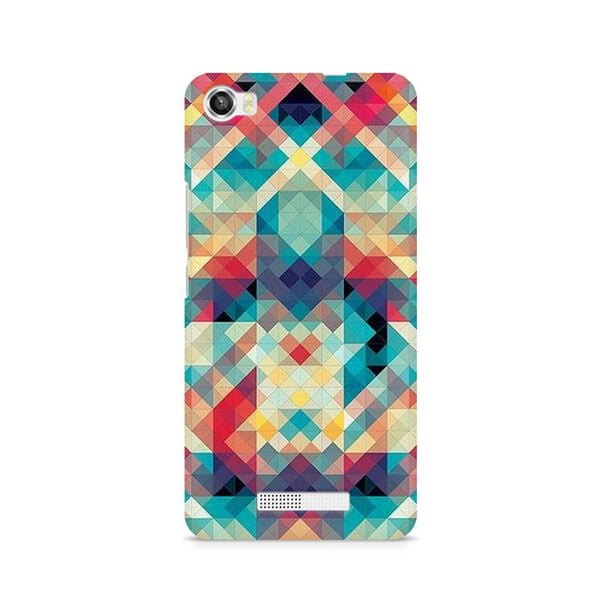 Ek Number Abstract Criss Cross Premium Printed Case For Lava Iris X8