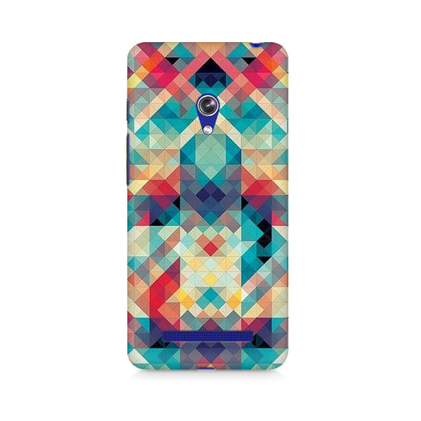 Ek Number Abstract Criss Cross Premium Printed Case For Asus Zenfone Go