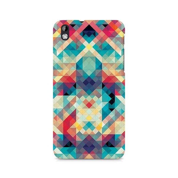 Ek Number Abstract Criss Cross Premium Printed Case For HTC Desire 816