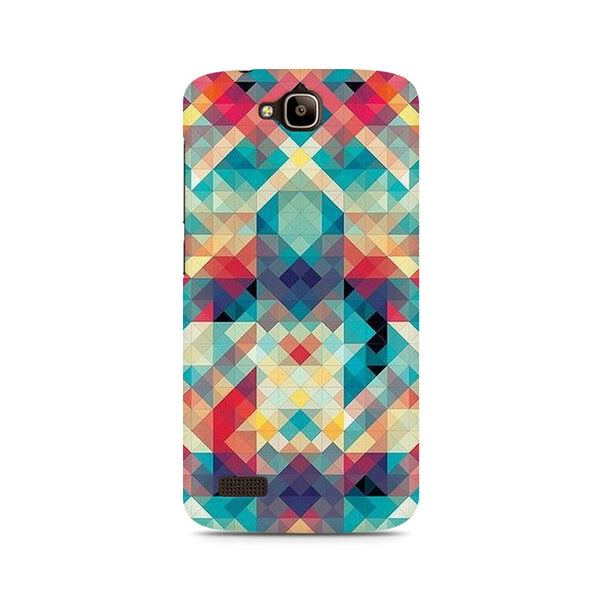 Ek Number Abstract Criss Cross Premium Printed Case For Huawei Honor Holly